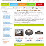 House Number Signs Homepage